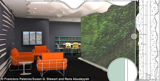 """未来""""植物墙"""":室内出现有害气体植物就会变色预警"""