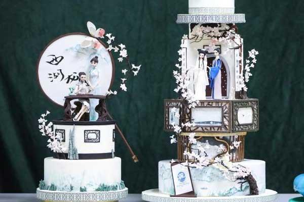 """蛋糕上的""""中国风"""" 姑娘把城市文化符号刻在甜品上"""