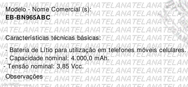 巴西电信局认证传闻 三星Galaxy Note 9采用4000毫安大电池