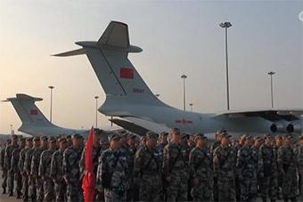 中国医疗队赴老挝参加和平列车2018演练