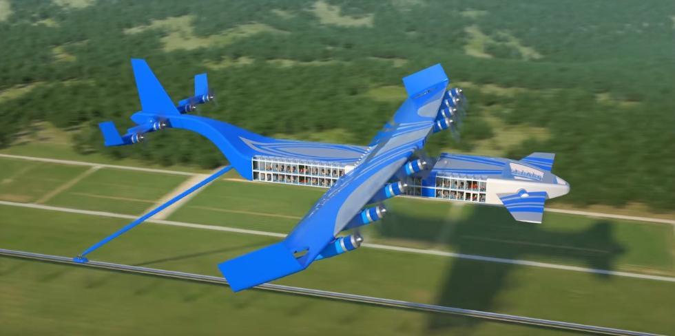 俄工程师提出飞行列车设计 比最快的高铁还快