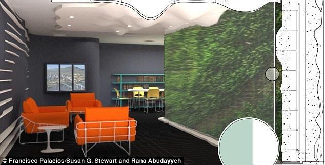 """科学家设计未来""""植物墙"""" 遇有害气体会变色"""