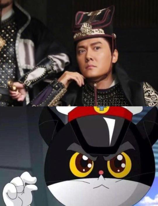 冯绍峰瞪眼和黑猫警长比眼大 自侃眼睛好累