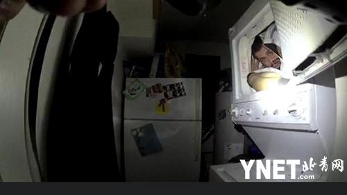 男子涉嫌家庭暴力 为躲警察蜷缩在烘干机内长达9小时