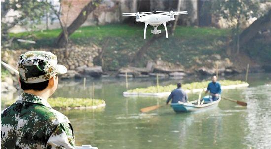 海安:无人机加入巡河大军智慧治水保河清