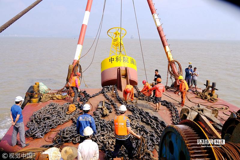 中国首套三锚式浮标综合观测平台完成布放 可观测近海剖面