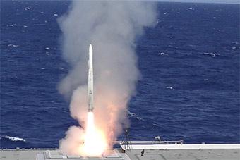 环太军演日本直升机航母发射防空导弹