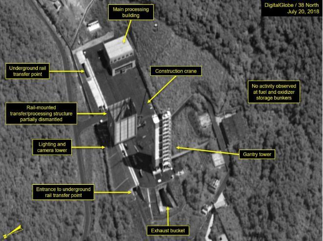 美智库卫星图像显示:朝鲜开始拆除西海卫星发射场的关键设施