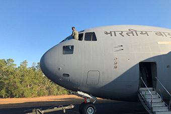 印度派出战略运输机飞抵澳大利亚举行联合军演