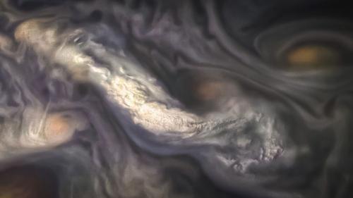 涡流变幻莫测 NASA展示木星上空奇异云层照片