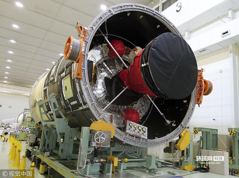 日本H2B型运载火箭机体完工 预计9月发射升空
