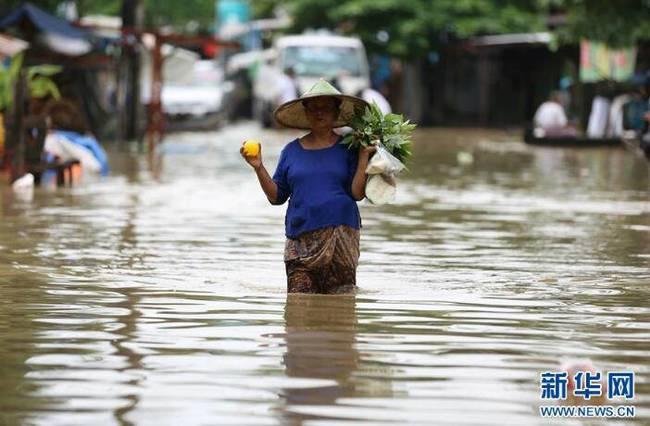 缅甸洪水泛滥(组图)