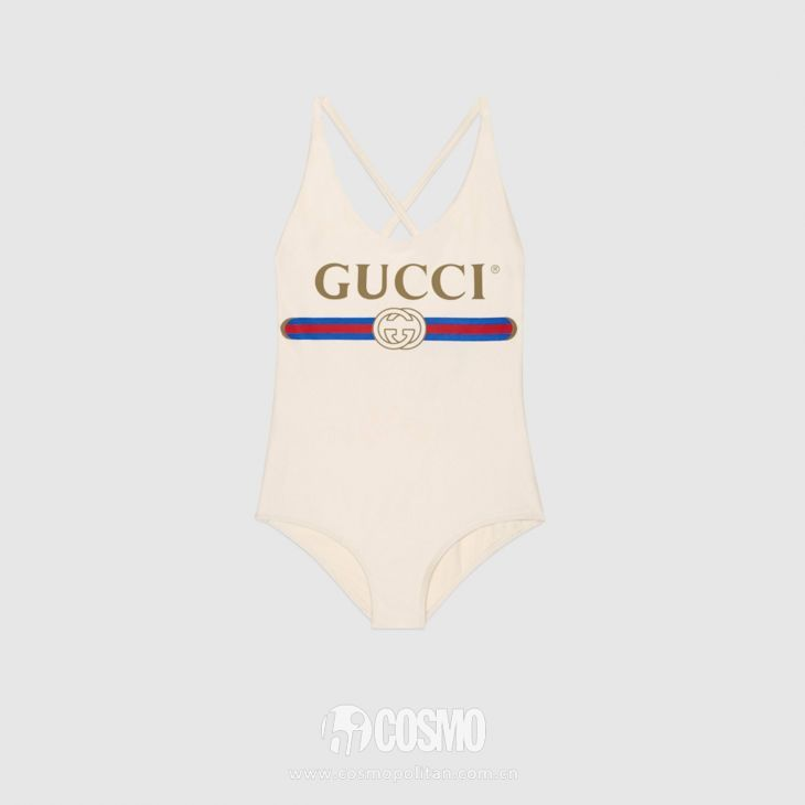 Gucci logo-print swimsuit-全球最火十大单品第二季,这双鞋我有点懵