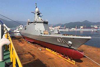 韩国为泰国建造护卫舰即将启程运往泰国