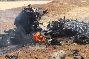 疑似被以色列击落叙军战斗机残骸曝光
