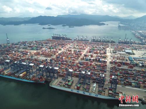 资料图:俯瞰深圳盐田港。 中新社记者 陈文 摄