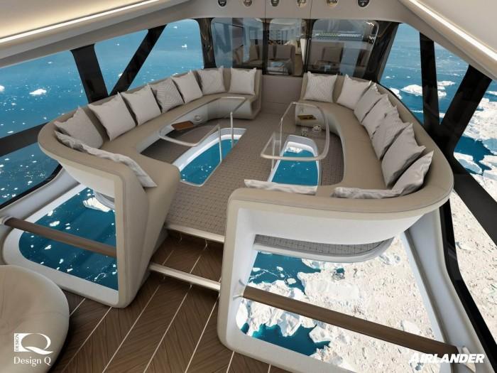 世界最大飞机将提供玻璃地板机舱 进行豪华飞行