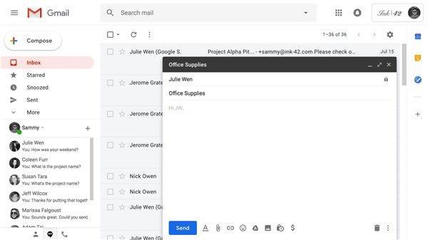 谷歌套件实现新功能:Gmail智能撰写环聊智能回复