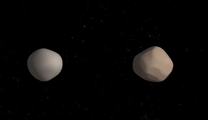 NASA:地球附近发现罕见双小行星