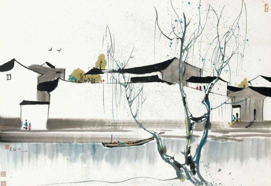 将中国风景油画带到欧洲的美术大师——吴冠中