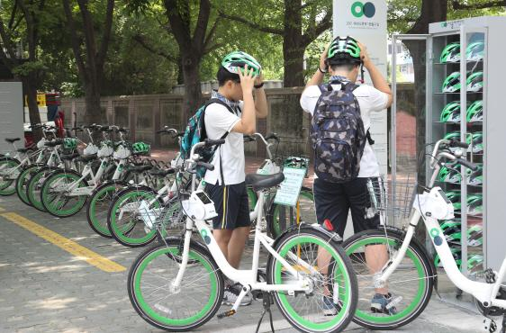 韩国政府掏钱给共享单车配头盔 一周被偷走218个