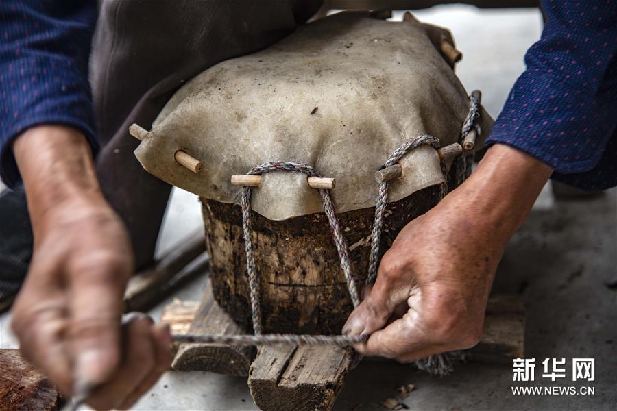 (文化)(4)吴开学与他的顶塘鼓