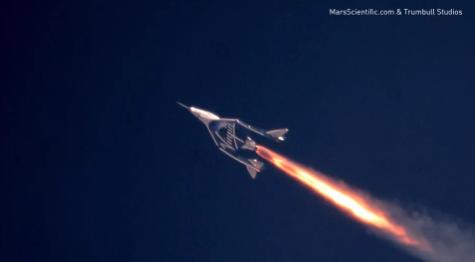 维珍银河Unity太空船破纪录 最高速度达2.47马赫