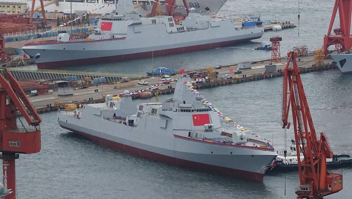 俄媒:中国已曝光6艘055大驱 未来或装备电磁炮