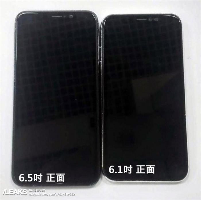 2018年iPhone真机曝光:玻璃后盖 窄边框刘海屏