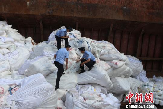 """广州海关上半年查扣走私""""洋垃圾""""约1133.2吨"""