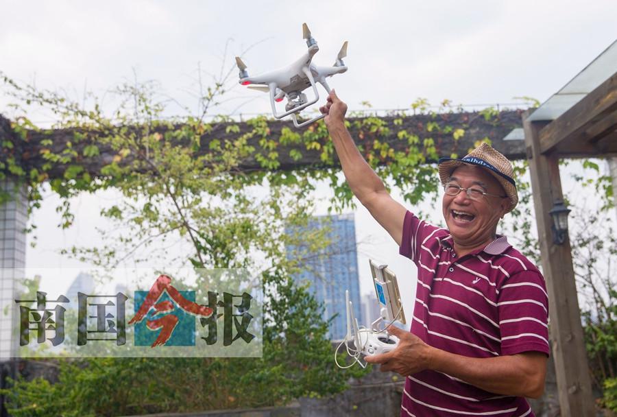柳州玩航拍的人群中 60岁以上老人超三成