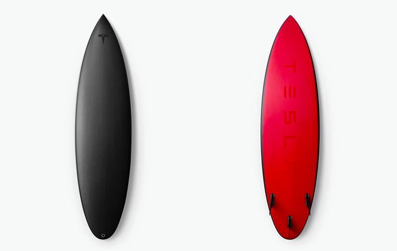 特斯拉推出限量版冲浪板:约2.03米长售价1万元
