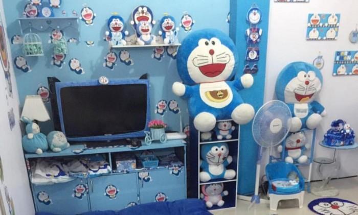 粉丝打造《哆啦A梦》主题房屋 到处都有蓝胖子