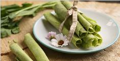 教你做香脆健康的菠菜脆蛋卷