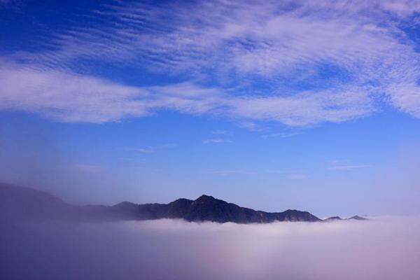 安徽黄山古村金龙山云海弥漫美如仙境