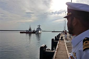 巴基斯坦海警船抵达马来西亚访问