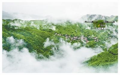 无人机安吉山村送快递 已完成派送飞行1821架次