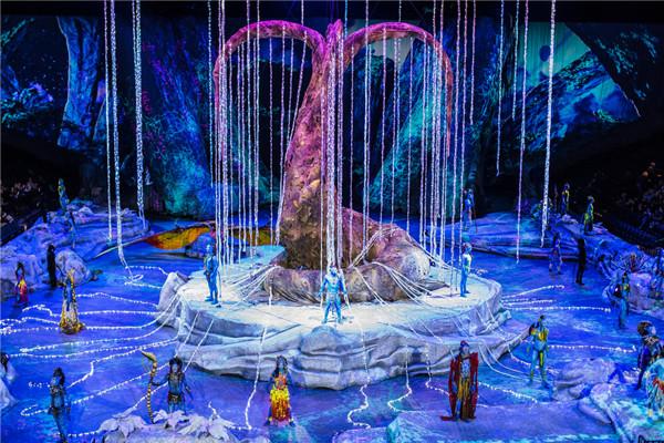 太阳马戏带你重返潘多拉星球 ——《阿凡达前传:托鲁克-首次翱翔》北京站盛大首演