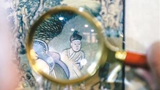 """传统苏绣""""复活""""名画"""