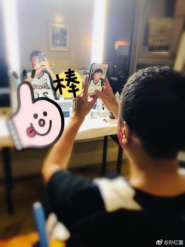 孙红雷自己化妆秒变成猴子 遭网友调侃:素颜挺好