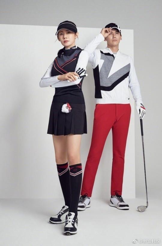 于晓光夫妇合体拍广告 秋瓷炫容光焕发长腿抢镜
