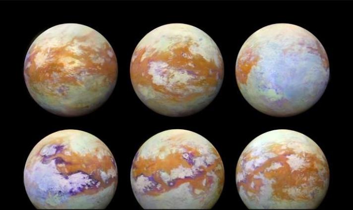 外媒天文图片精选:土卫六最真实素颜照曝光