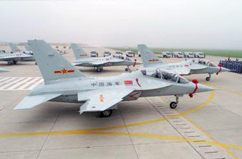 一次12架!中国海军列装大批歼教10新型教练机