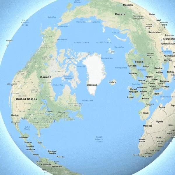 谷歌地图迎来比例更加精确的地球仪模式