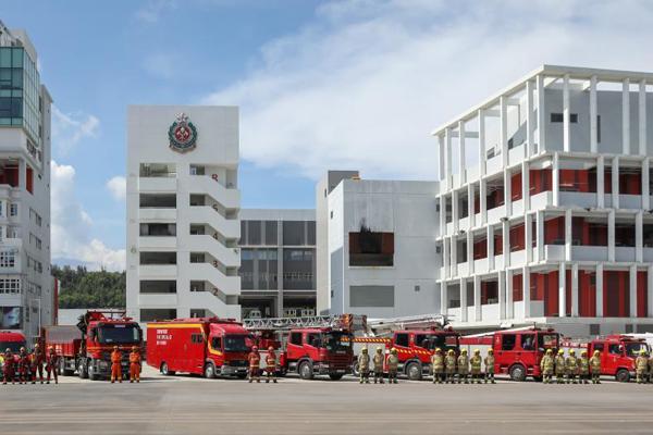 香港消防及救护学院举行开放日 示范灭火救援工作