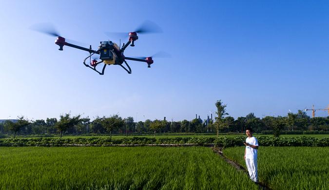江苏一家庭农场引进先进机械  提供农业生产效率