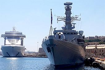 叫嚣要巡航南海英国海军老旧护卫舰返回地中海