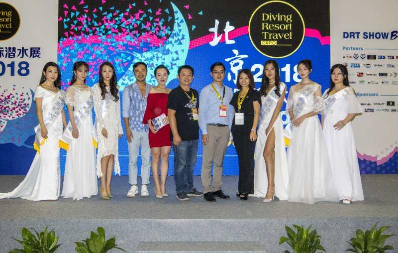 2018北京国际潜水展盛大开幕 潜水小姐现场亮相