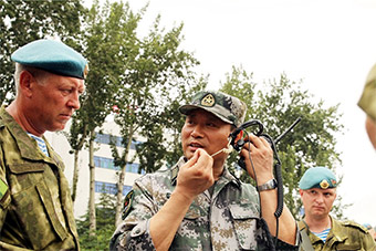 中国白俄罗斯两国特种部队举行联合训练