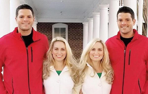 美双胞胎姐妹嫁双胞胎 婚礼主持亦是双胞胎